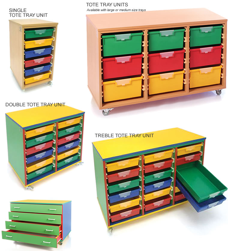 Tote tray units