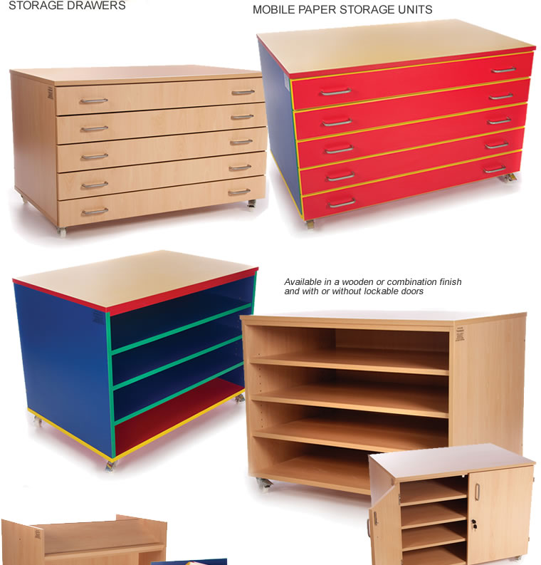 Mobile paper storage units