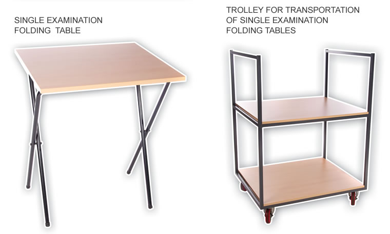 Examination tables and trolley